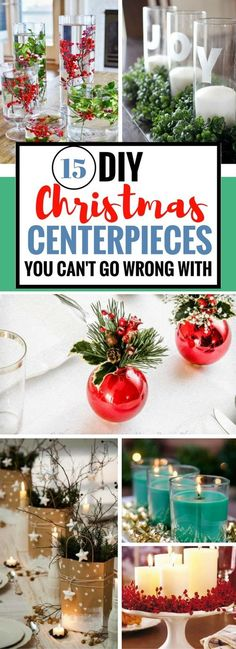 Find the best and easiest homemade DIY Christmas Centerpieces that will knock your guests' socks off.