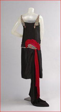 House of Worth, Black Evening Dress, Paris, c. 1925.