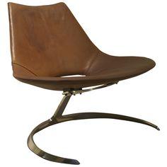1962 Scimitar chair Jorgen Kastholm & Preben Fabricius Ivan Schlechter original