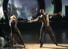 Inspired: He and pro partner Witney Carson showed good chemistry