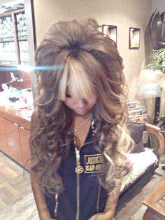 perrrrfffeeccctttt @Chloe Allen Park. lets find you some hair/ bang extensions..... gORGEOUS hAIR  full of volume + Love color, wedding hair???