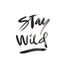 Stay Wild shared by Annasphotographs on We Heart It Brush Script, Best Inspirational Quotes, Best Quotes, Amazing Quotes, Favorite Quotes, Bad Arolsen, Handwritten Quotes, Calligraphy Qoutes, Addicted Series