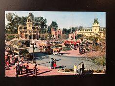 Vintage Disneyland Main Street U.S.A. Postcard - Town Square by VintageDisneyana on Etsy