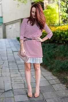 Look com vestido curto + anágua para alongar a roupa