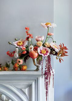 Wedding Flower Arrangements Brides: Freshen Up Wedding Flowers with Deliciously Unexpected Fruit and Veggie Accents - Look to heirloom fruits and vegetables for floral arrangements just as lovely as a still-life painting.