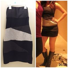 ⚡️lowered⚡️Forever 21 Sexy Dress - size Small Sexy Forever 21 dress. Size S. Perfect for a night out :D. Mix of black, light gray and dark gray colors. Back is solid black. No zipper but stretchy so easy to put on. Worn but still in good condition. Forever 21 Dresses Mini