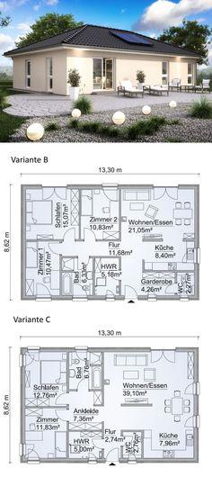 Bungalow sh b classique avec toit - scanhaus marlow hausbaudirekt Beautiful House Plans, Modern House Plans, House Floor Plans, House Layout Plans, House Layouts, Sims3 House, Home Design Decor, House Design, Affordable House Plans