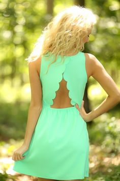 Mint scallop open back dress find more women fashion ideas on http://www.misspool.com find more women fashion ideas on www.misspool.com