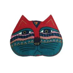 Laurel Burch Coin Purse With Zipper Top - Feline Face A – Maggie's Crochet