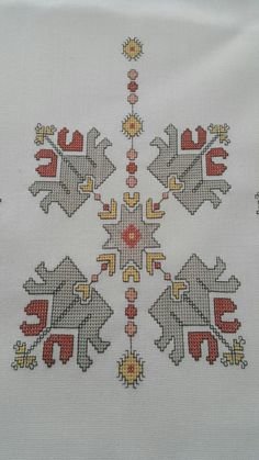 This Pin was discovered by zül Cross Stitch Borders, Cross Stitching, Cross Stitch Patterns, Folk Embroidery, Cross Stitch Embroidery, Palestinian Embroidery, Needlepoint Designs, Bargello, Blackwork