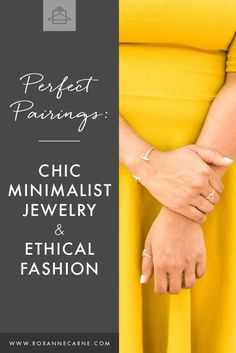 Love minimalist style and passionate about ethical fashion? Want some pointers on the best places to buy minimalist jewelry and clothes? Don't miss out on these awesome pairings of chic minimalist jewelry and clothes that support ethical fashion! Minimalist Fashion French, Minimalist Jewelry, Minimalist Style, Fashion Articles, Fashion Advice, Fashion 101, Gold Fashion, Fashion Outfits, Jewelry Insurance