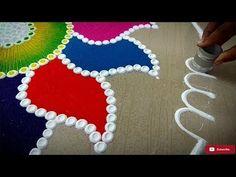 latest muggulu rangoli designs with 7 dots Diwali Special Rangoli Design, Free Hand Rangoli Design, Rangoli Designs Diwali, Diwali Rangoli, Rangoli Designs With Dots, Beautiful Rangoli Designs, Kolam Designs, Rangoli Ideas, Indian Rangoli