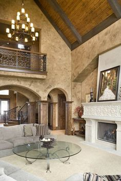 Exposed Beams, Wood of Vaulted Ceiling Add Texture - The Lacombe