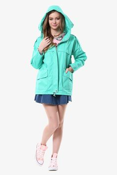 Mint Hooded Jacket