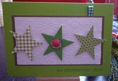 Weihnachten, Karte, Stern, grün