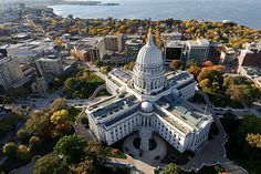 Welcome to Madison and the surrounding areas of Dane, Columbia, Rock, Jefferson, Sauk and Dodge Counties located in South central Wisconsin. Madison is the. States In America, United States, 50 States, Virginia, Madison Wisconsin, Capitol Building, Best Cities, Aerial View, Small Towns