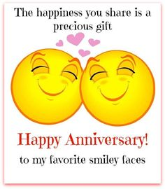 to one cool couple anniversary wedding anniversary happy anniversary rh pinterest com Blue Smiley Face Clip Art Happy Emoticon