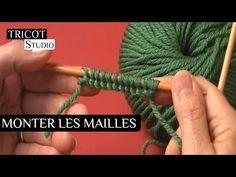 Cast on – Caf'e Tricot Studio Cast On Knitting, Knitting Videos, Easy Knitting, Knitting For Beginners, Loom Knitting, Knitting Stitches, Knitting Patterns, Crochet Patterns, Diy Crafts Knitting