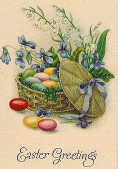 Over the Rainebeau: Vintage Easter Freebies! Easter Greeting Cards, Vintage Greeting Cards, Vintage Postcards, Easter Art, Easter Crafts, Easter Pictures, Diy Ostern, Easter Parade, Easter Printables