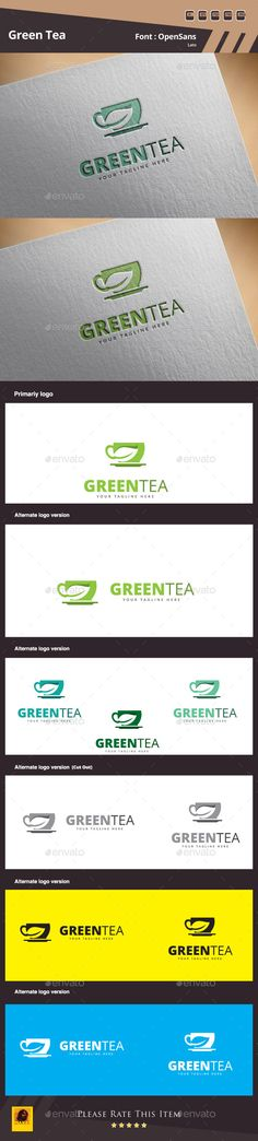 Green Tea Logo Template