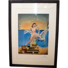 Salvador Dali, 'Leda and the Swan', ca 1949 lithograph. Offered by Oljos on RubyLUX. Salvador Dali, Swan, Concept, Glass, Painting, Design, Art, Craft Art, Drinkware