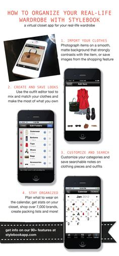 How to organize your real wardrobe on your iPhone - Stylebook - #organize #closet #iPhone #app