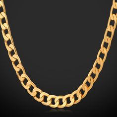 Stamp Gold Chain Men Jewelry Cuban Link Chain with Men – Jewelry Mens Chain Necklace, Chain Necklaces, Chunky Necklaces, Chain Jewelry, Gold Fashion, Fashion Jewelry, Indian Jewellery Online, Gold Chains For Men, Jewelry Companies
