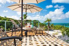 Grace Bay beach sun loungers