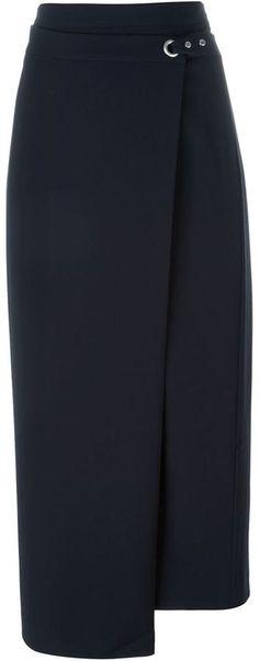 T By Alexander Wang wrap maxi skirt More / Cyclocross Photo Blouse And Skirt, Dress Skirt, Alexander Wang, Hijab Fashion, Fashion Outfits, Jupe Short, Cute Skirts, Skirt Outfits, African Fashion