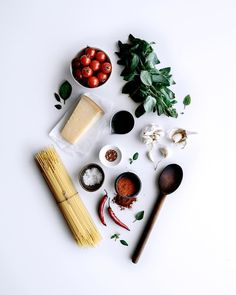 """Ashley Alexander on Instagram: """"ingredients! this weeks recipe is a super simple roasted tomato & smokey chili spaghetti. coming your way later this week! delish! ✌️x #gatherandfeast"""" Chili Spaghetti, Spaghetti Recipes, Food Photography Styling, Food Styling, Spaghetti Ingredients, Food Flatlay, Most Popular Recipes, Roasted Tomatoes, Food Design"""