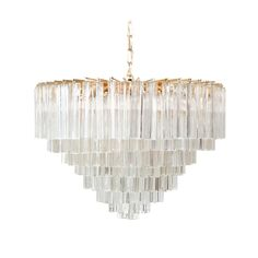 SOLD : Vintage Murano Glass Chandelier…