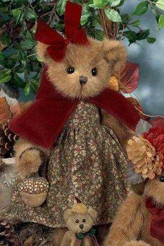 Bearington - Annie Acorn by Bearington… Teddy Bear Hug, Cute Teddy Bears, Bear Hugs, Ours Boyds, Teady Bear, Country Bears, Christmas Teddy Bear, Bear Pictures, Vintage Teddy Bears