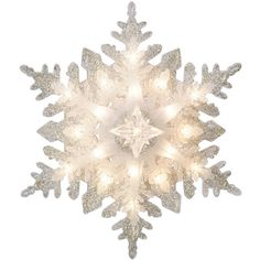 GE Holiday Classics Snowflake ❤ liked on Polyvore featuring home, home decor, holiday decorations, christmas tree lights, snowflake christmas tree topper, holiday home decor and holiday lights