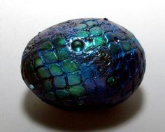 Dragon Egg Paperweight Metallic Sparkle Polymer by MandarinMoon, $35.00