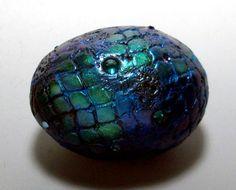 Dragon Egg Paperweight Metallic Sparkle Polymer by MandarinMoon, $35.00