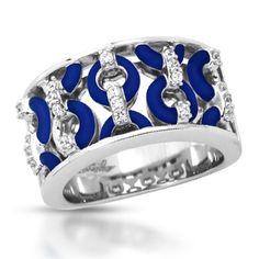 Belle Étoile Meridian Navy Blue Ring