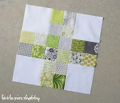 cross squares. would be a great strip piecing idea ... put it together quickly