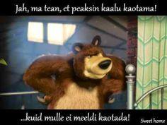 Masha And The Bear - All Episodes (World) (lista de reproducción) Cartoon N, Masha And The Bear, All Episodes, Brown Bear, Cool Words, Sweet Home, Cute, Kids, Animals