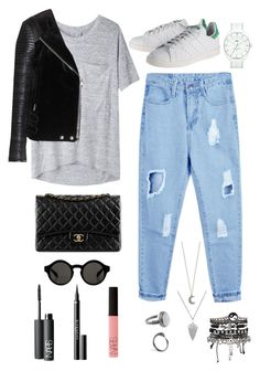 """Stan Smith"" by tropicooll ❤ liked on Polyvore featuring rag & bone/JEAN, adidas Originals, Chanel, Monki, Givenchy, NARS Cosmetics and ASOS"
