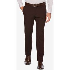 Perry Ellis Men's Slim-Fit Pants (4.490 RUB) ❤ liked on Polyvore featuring men's fashion, men's clothing, men's pants, men's casual pants, chocolate, mens slim fit pants, perry ellis men's pants, mens slim pants and mens pants