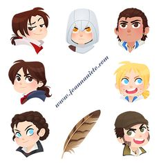 I have updated my Redbubble shop with some little assasins XD Reblogs are appreciated