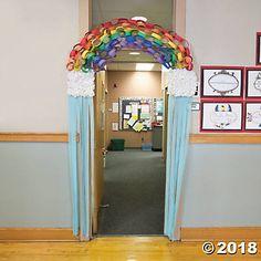 Rainbow Door Decoration Idea