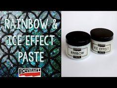 Jéghatás és szivárvány paszta // Rainbow and Ice Effect Paste Maroon 5, Techno, Decoupage, Mixed Media, Rainbow, Ice, Youtube, Cards, Pictures