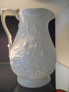 Early Victorian Salt Glaze Pottery Pitcher