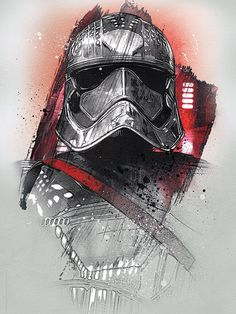 Want a metal print copy?: Visit Artist Store Description: Official Star Wars The Last Jedi Character Portraits Captain Phasma artwork by artist & Star Wars Meme, Star Wars Ewok, Star Wars Holonet, Star Wars Fan Art, Character Portraits, Character Art, Sith, Cuadros Star Wars, Images Star Wars
