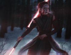Switching To Sith – 10 Concept Designs Taking 'Star Wars' Heroes To The Dark Side! Rey Star Wars, Star Wars Fan Art, Star Wars Rpg, Star Wars Jedi, Star Trek, Reylo, Tableau Star Wars, Star Wars Personajes, Kylo Ren And Rey