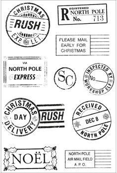 North Pole postmarks.
