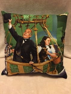Wizard Of Oz Pillow Handmade With Out Of Print Fabric Panel Dorothy Toto  | eBay