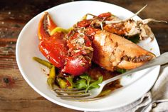 This recipe for asian-style chilli crab is a feast for the eyes and mouth alike.