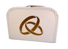Hochzeitskoffer als Geschenk oder als Aufbewahrung von Karten und Erinnerungen an die Hochzeit.